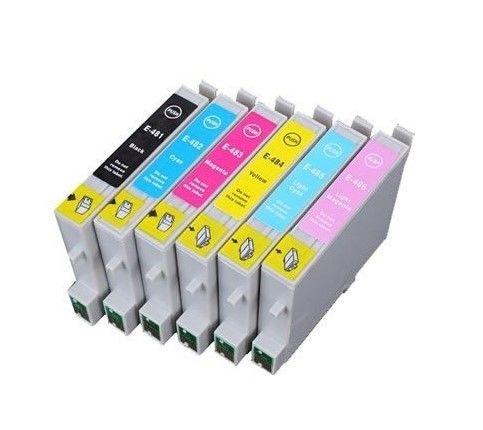 16 CARTOUCHES D'ENCRE COMPATIBLES EPSON HIPPOCAMPE T0487 Matériel informatique