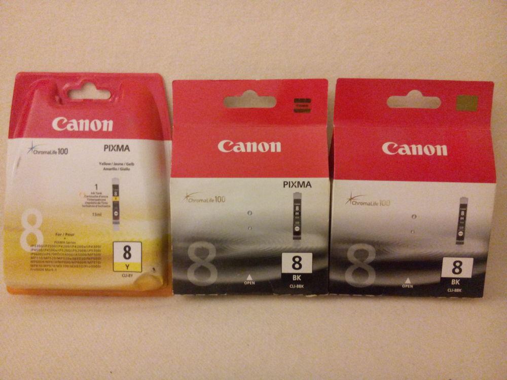 Cartouches d'encre jaune & noire Canon PIXMA ChromaLife 100 6 Châtillon (92)