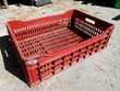 bac casier de rangement rouge solide