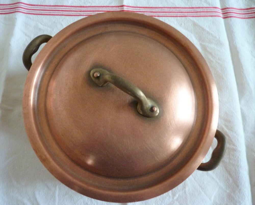 Casserole fait-tout avec couvercle cuivre rouge de Villedieu 60 Orsay (91)