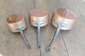 lot de 3 casseroles en cuivre étamé 12 Saint-Brieuc (22)