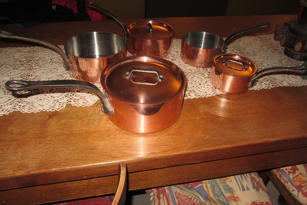 Casseroles cuivre intérieur inox 400 La Genevraye (77)