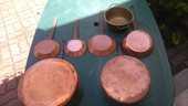 Casseroles cuivre rouge  100 Gamaches (80)