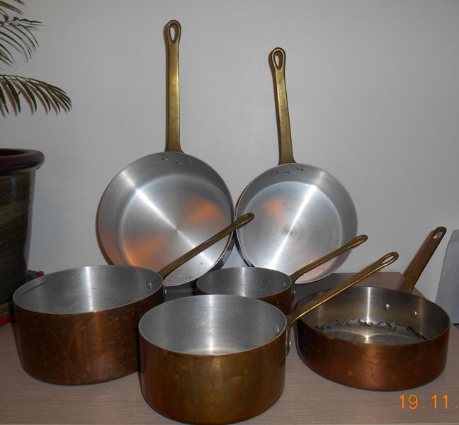 Lot de 6 Casseroles en cuivre 95 Mâcon (71)