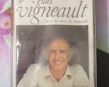 Cassette audio Gilles Vigneault  1 Hérouville-Saint-Clair (14)
