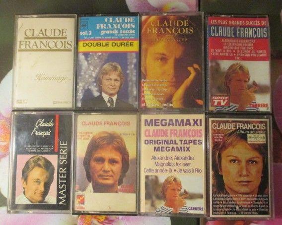 Cassettes audio   Claude François    0 Hérouville-Saint-Clair (14)