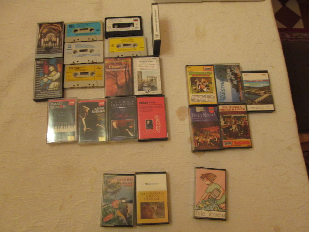 Cassettes audio musique, chansons lot n°2 1 Herblay (95)