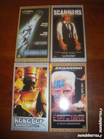 Lot de 4 cassettes «fantastique» DVD et blu-ray