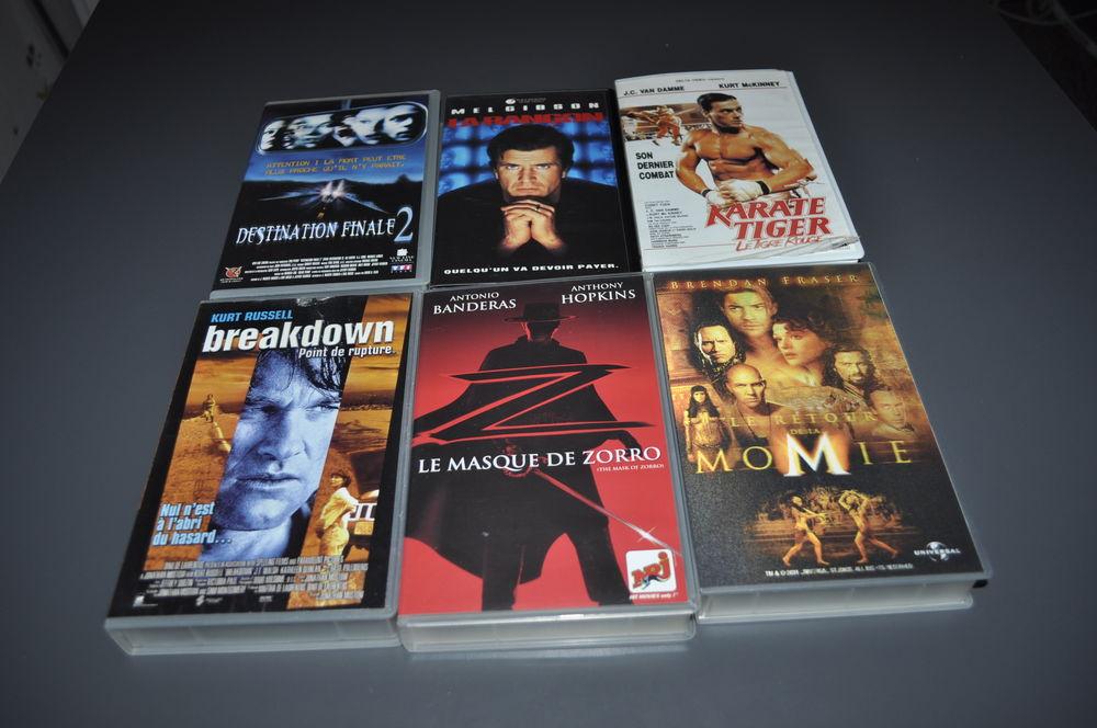 Lot de cassettes Vidéo VHS avec  Mel Gibson  5 Écuisses (71)