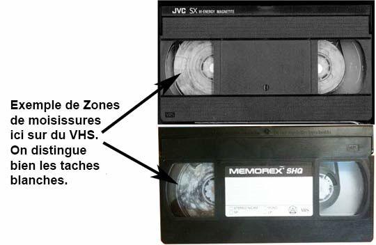 Cassettes vidéo illisibles, cassées ou abimées Photos/Video/TV