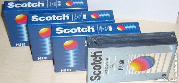 4 cassettes vidéo 8mm Hi8 Scotch P5 pour caméscope 25 Versailles (78)