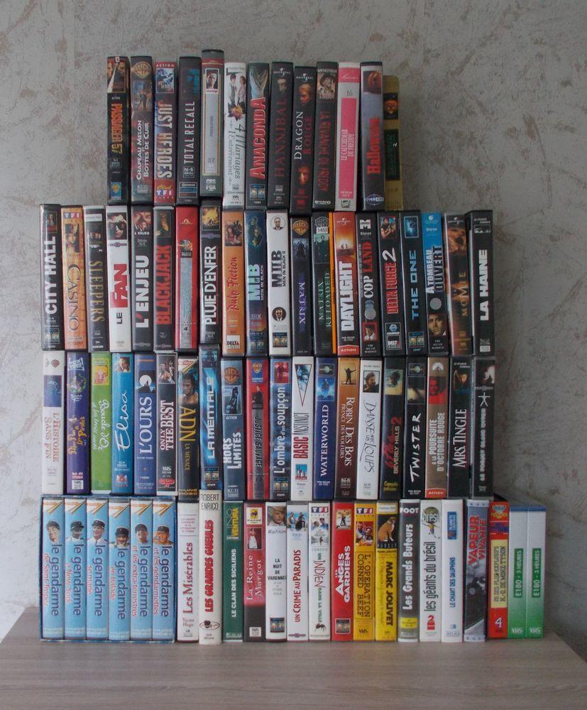 Cassettes VHS DVD et blu-ray