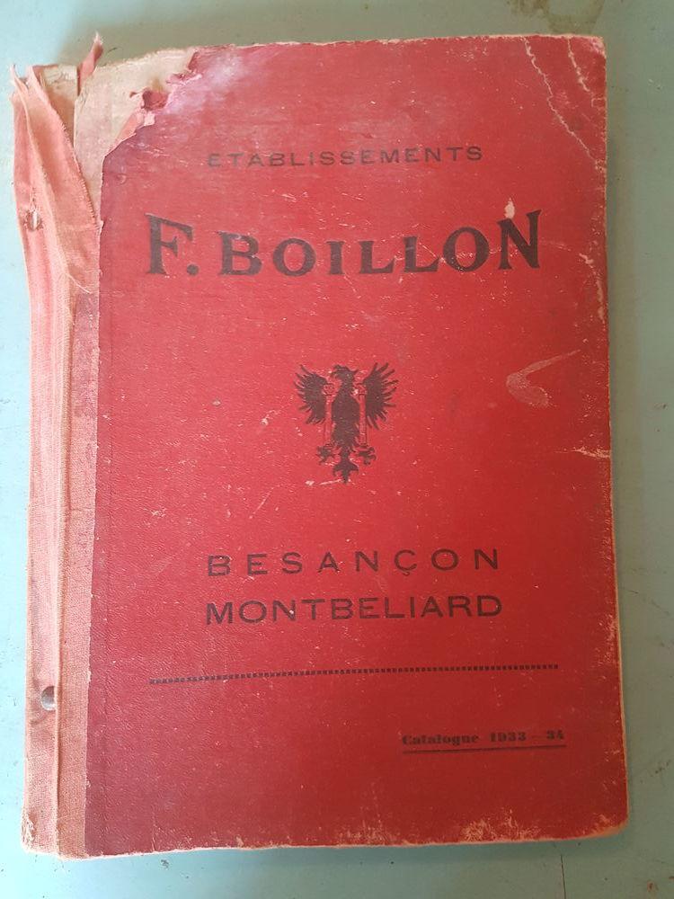 """CATALOGUE """"ETABLISSEMENTS P.BOILLON"""" années 33/34"""
