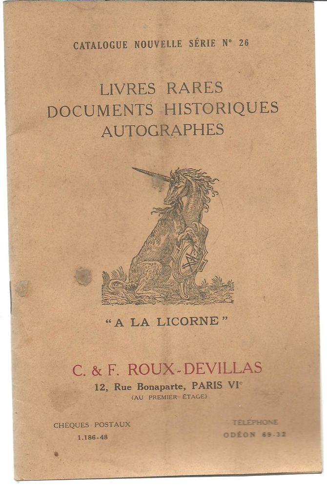 CATALOGUE Nouvelle série n°26 LIVRES RARES DOCUMENTS HISTORI 7 Montauban (82)