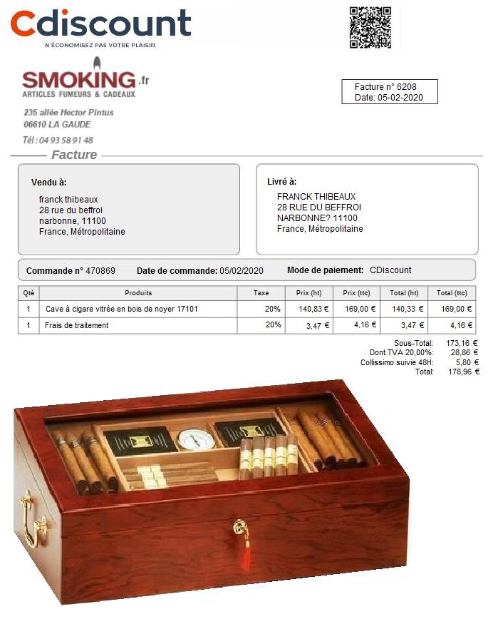 cave vitree pour 200 cigares Décoration