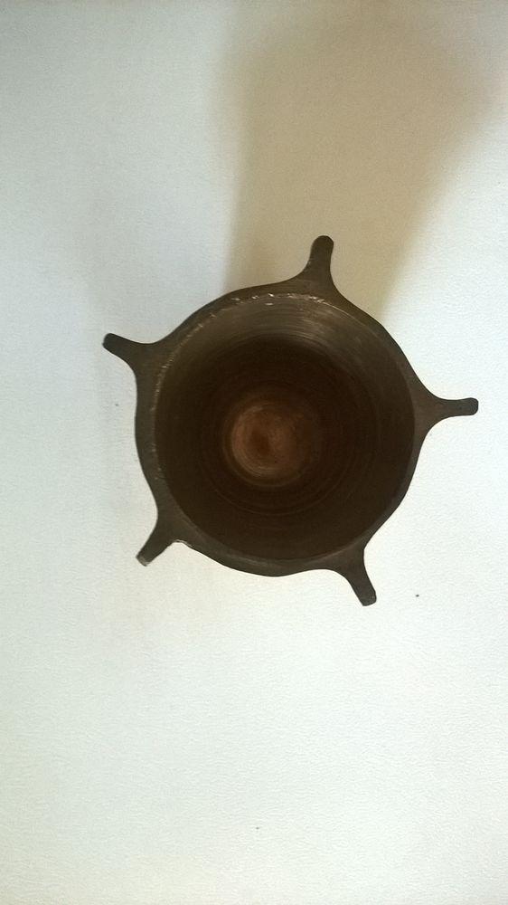 Pot ou Cendrier laiton ou cuivre  d un obus ailette 9 Talange (57)