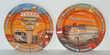4 cendriers métal sérigraphiés thème américain Décoration
