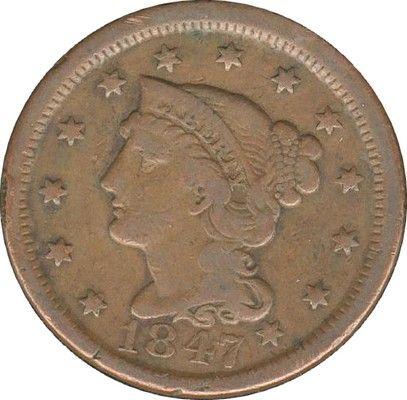 Cent USA 1847 35 Couzeix (87)