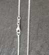 chaine cheville en argent 925, longueur 30 cm, largeur 2 mm