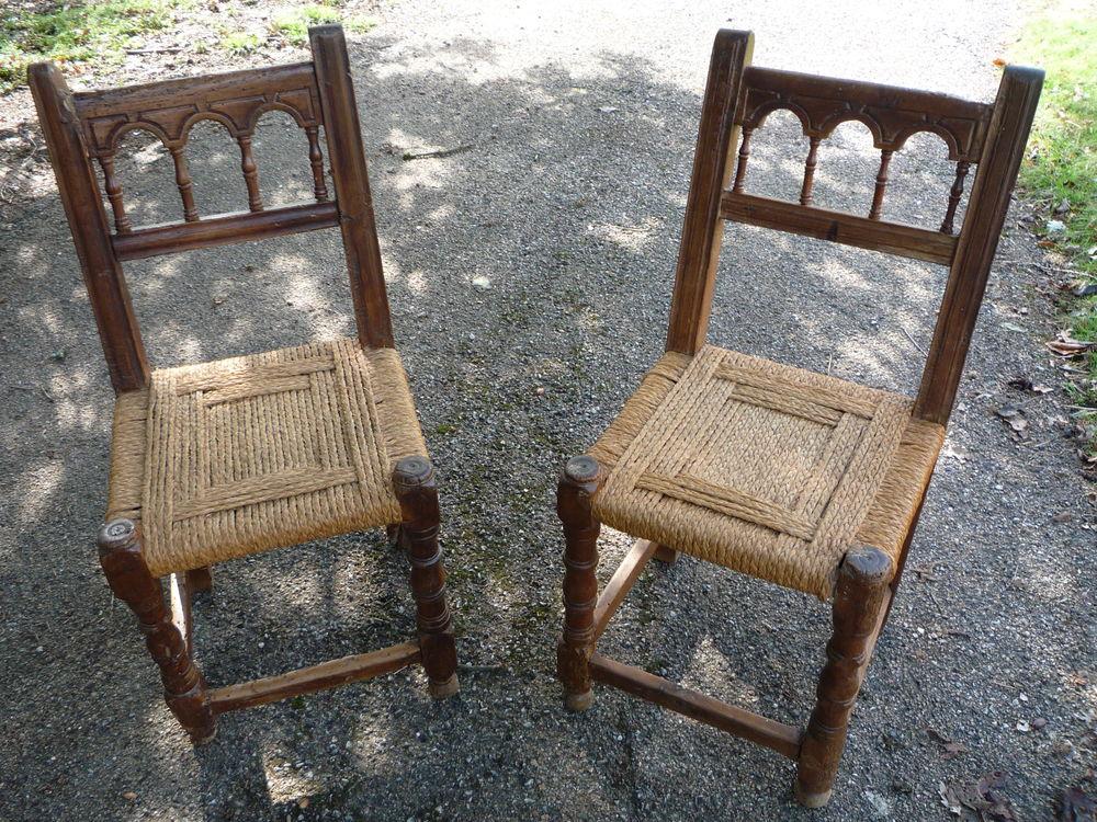 Chaise ancienne rustique hispanique 65 Castres (81)