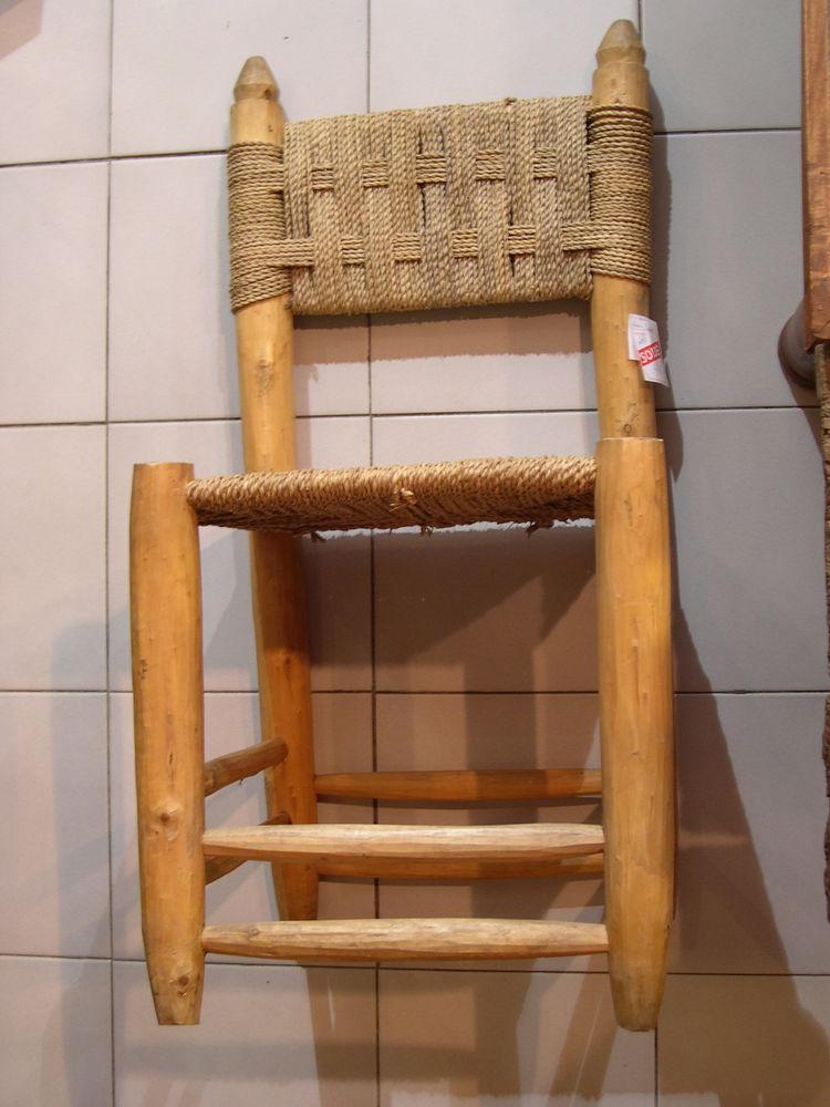 Chaise artisanale et originale en Palmier du Maroc.  50 Grenoble (38)