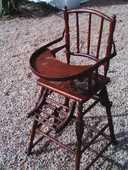 Chaise bébé ancienne 20 Vairé (85)