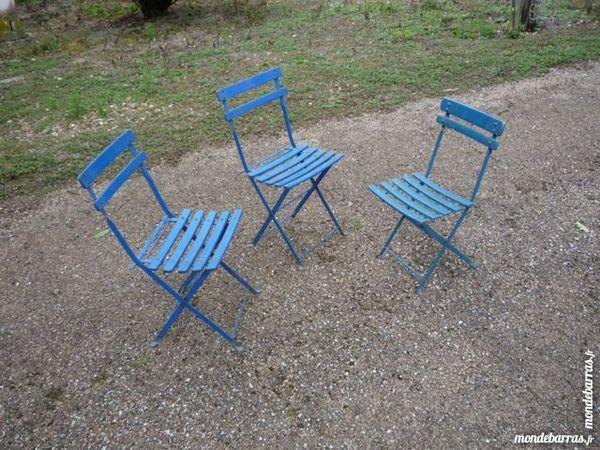 Chaise bistrot/bistro/café/bar,lattes bois et fer forgé 25 Castres (81)
