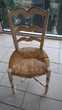 Chaise en bois cérusé  Saint-Paul (06)