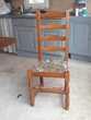 Chaise bois et tissus Meubles