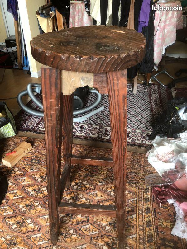 Chaise de bar en chêne vintage 30 Ivry-sur-Seine (94)