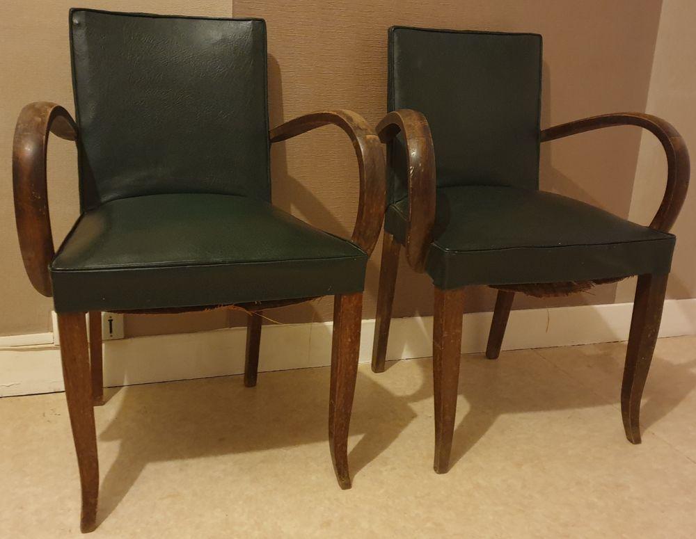 Chaise en cuir 1850 Charleville-Mézières (08)