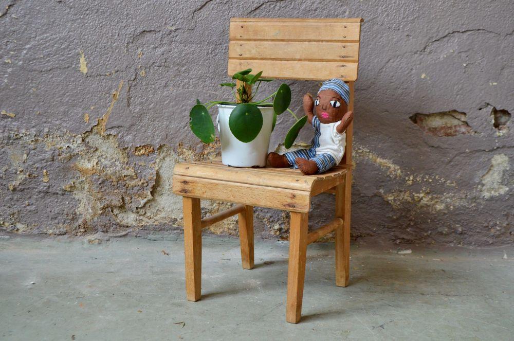 Chaise enfant vintage scandinave en bois petite 50 Wintzenheim (68)