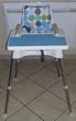 Chaise haute béaba blanc et turquoise Puériculture