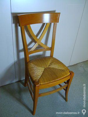 Chaise hêtre croisillon, Neuve 50 Paris 15 (75)