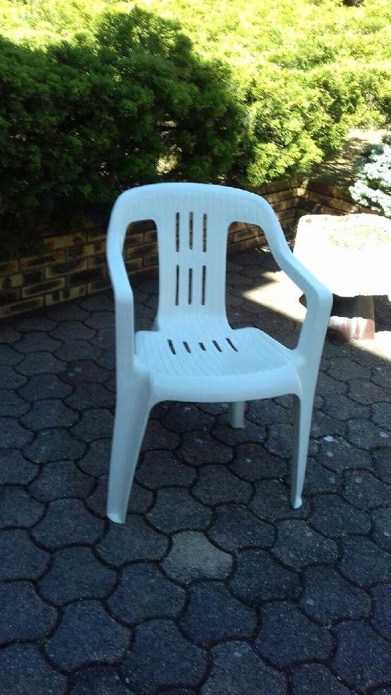 Chaise de jardin blanche idéal pour l'été 5 Craponne (69)