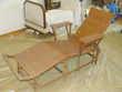 chaise longue rotin