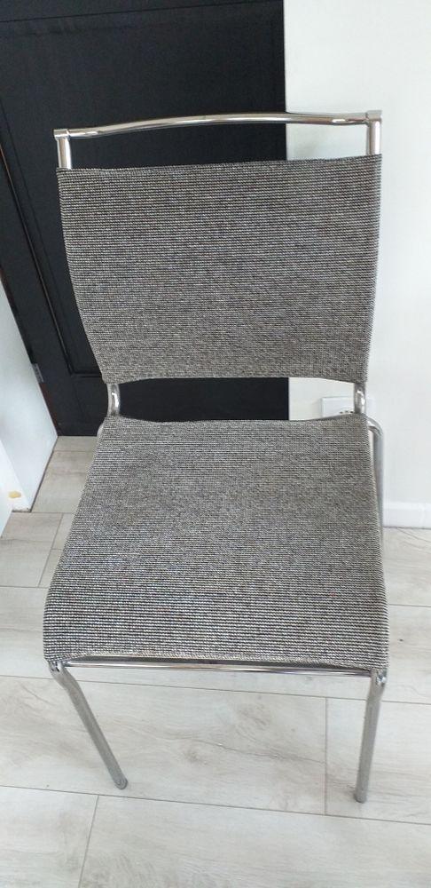 chaise métal grise chiné 45 Nantes (44)