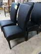 Chaise moderne noire Neuve !