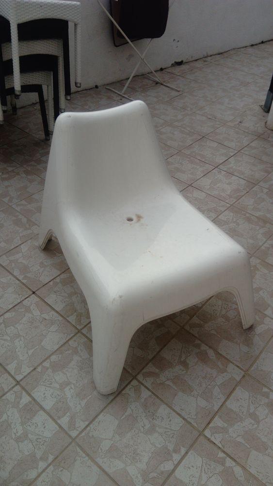 3 Chaise Plastique Jardin Blanche Dcoration