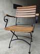 Chaise pliable en fer forgé et bois d'acacias Meubles