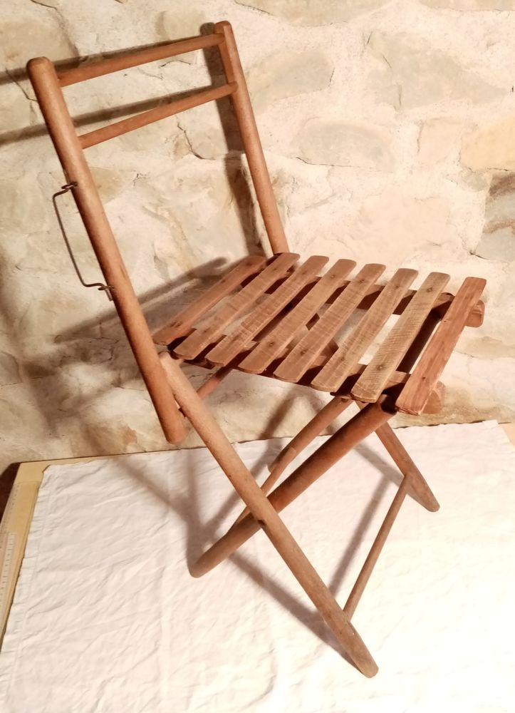 Chaise pliante ancienne. 40 Vierzon (18)