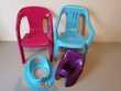 chaise et pots