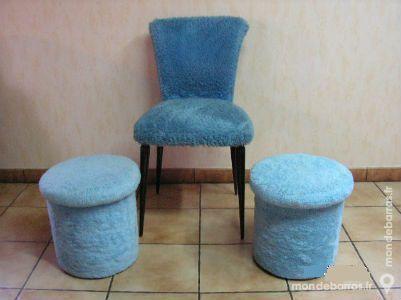 Chaise , 2 poufs et 2 tapis moumoute 100 Paris 15 (75)