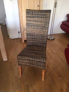 Chaise de salle à manger cabana loom pied teck H et H 129 Levallois-Perret (92)