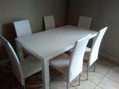 chaise et tables blanche laquée 100 Montceau-les-Mines (71)