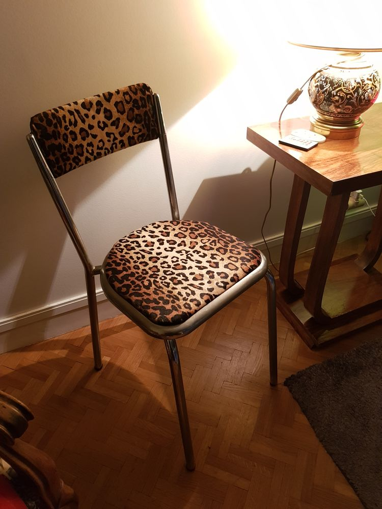 Chaise 30-40-50-60-70 vintage design metal leopard 0 Paris 12 (75)