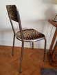 Chaise 30-40-50-60-70 vintage design metal leopard Meubles