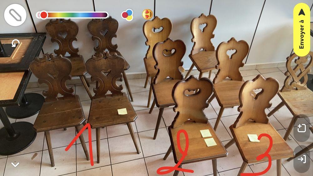 Chaises alsaciennes en bois  50 Grenoble (38)