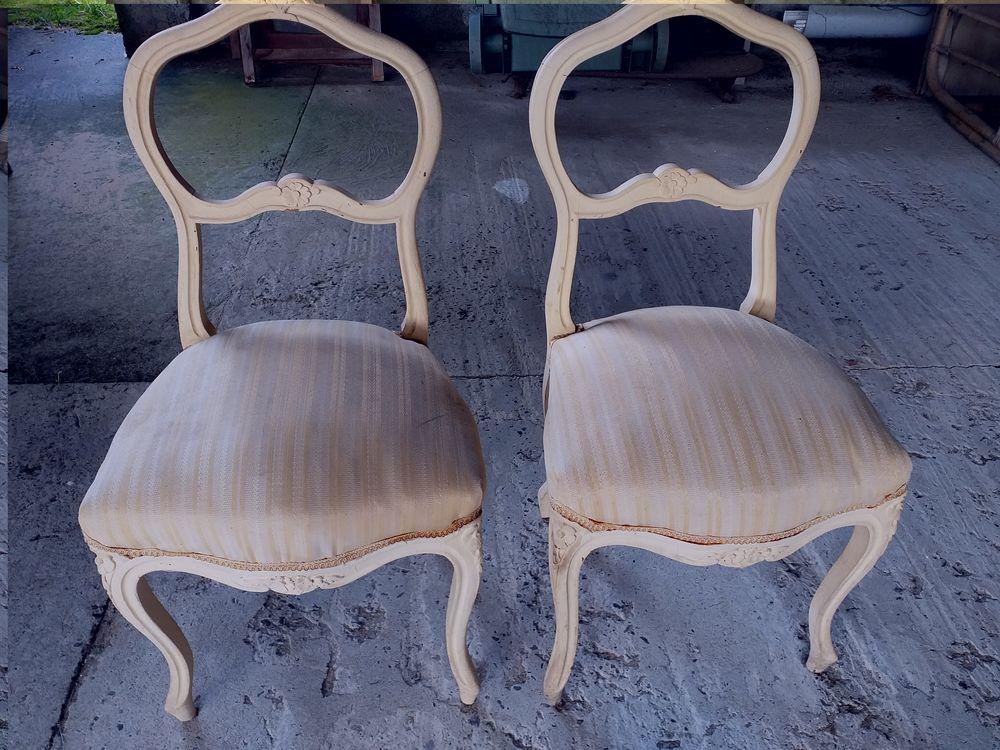 Lot de 2 chaises anciennes  60 Angresse (40)