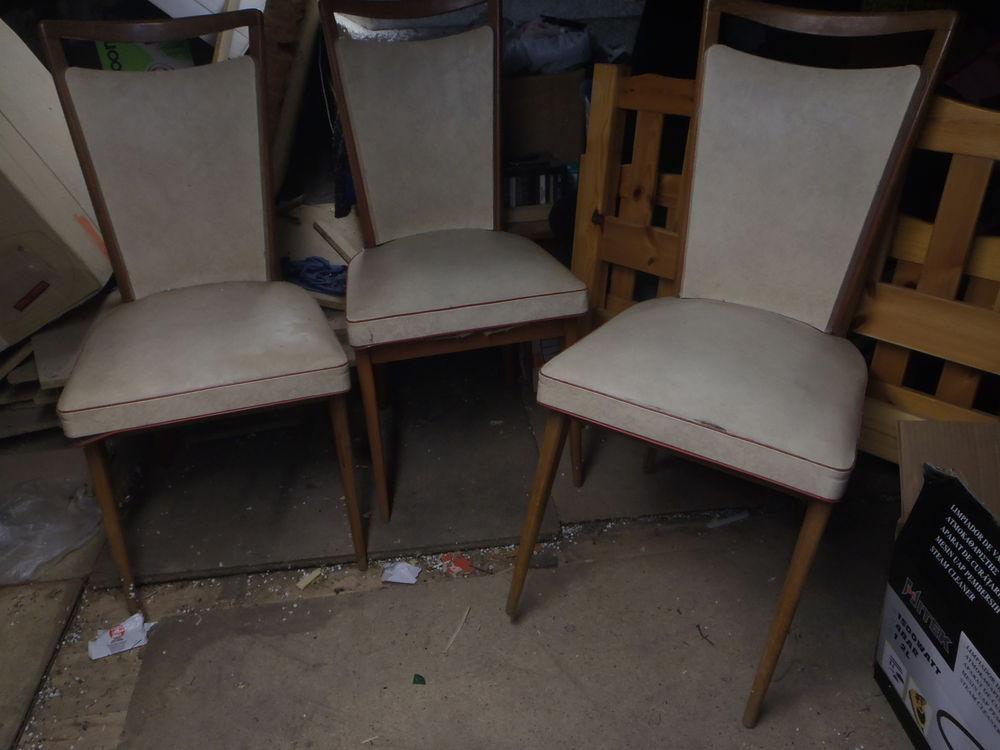 6 chaises annes 70 simili cuir meubles - Chaise Annee 70